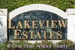 Lakeview Estates community sign